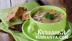 Суп-пюре из картофеля и фасоли фото