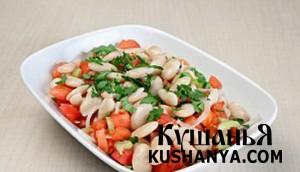 Постный салат фото