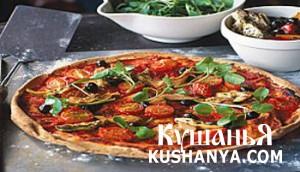 Быстрая пицца с салатом фото