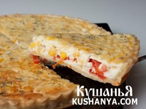 Пирог из кукурузы и томатов фото