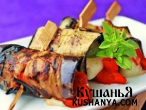 Салат из баклажан с базиликом фото