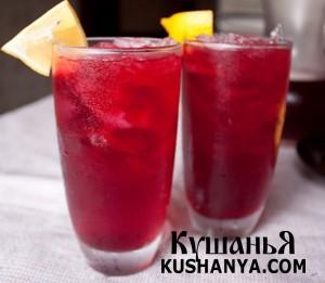 Холодный красный чай с имбирем фото
