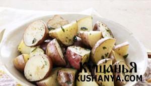 Конверт с картофелем и травами фото