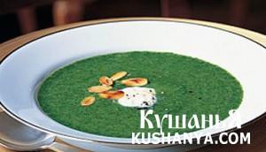 Суп из шпината фото