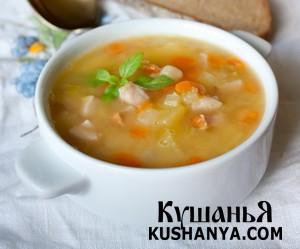 Гороховый суп с ветчиной фото