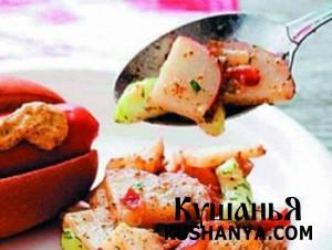 Салат из картофеля с яблоками фото