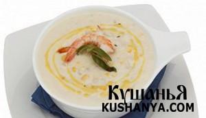 Суп с креветками и сыром фото