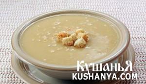 Гороховый суп с гренками фото