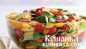 Салат с приправой из трав фото