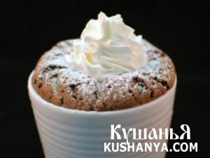 Шоколадное суфле с белым шоколадом фото