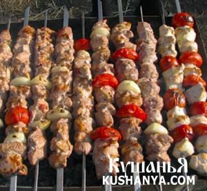 Фото Шашлык из свинины в томате и сливках