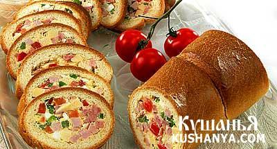 Фото Бутерброд-рулет с мясом и сыром