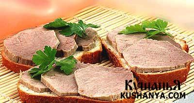 Фото Бутерброды мясные