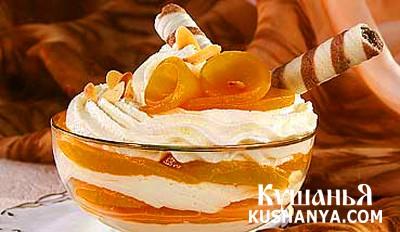 Фото Творожный крем с персиками