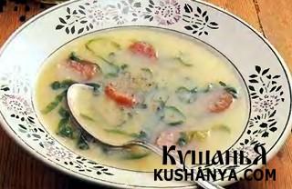 Фото Суп зеленый с картофелем