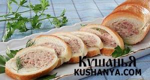 Фото Большой бутерброд по-венгерски