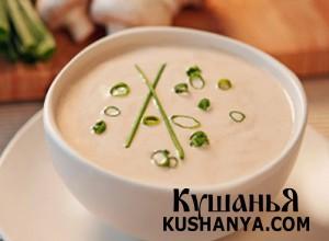 Суп-пюре из шампиньонов фото