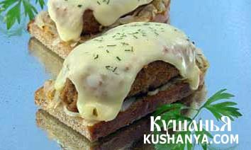 Фото Горячие бутерброды с котлетами