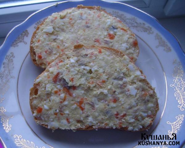 Фото Бутерброды с селедочным маслом