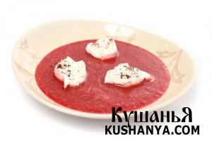 Суп из вишен с варениками фото
