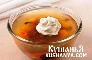 Суп из сушеных фруктов с макаронами фото
