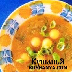 Фото Дынный суп с базиликом