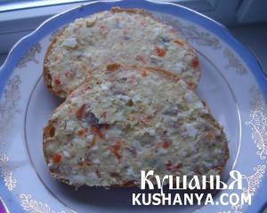 Бутерброды с селедочным маслом фото