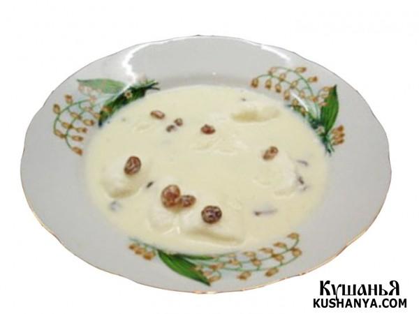 Фото Молочный сладкий суп с клецками