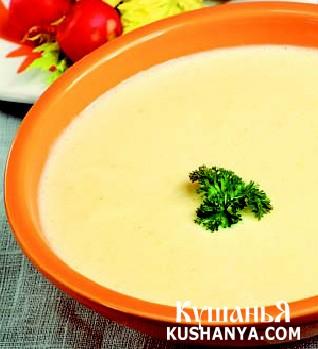 Фото Суп молочный с ячневой крупой и картофелем