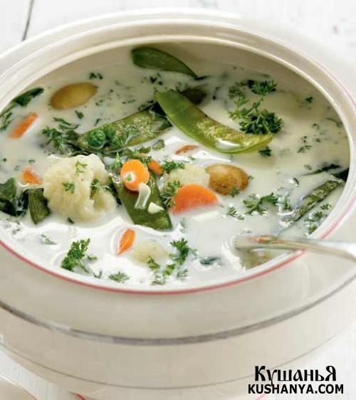 Фото Молочно-овощной суп с тмином