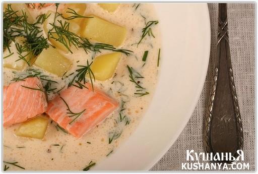 Фото Сырный суп с морепродуктами