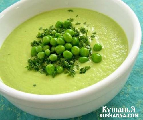 Фото Суп молочный с зеленым горохом
