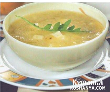 Фото Суп молочный с картофелем и брынзой