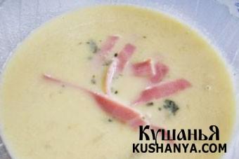 Фото Огуречно-сливочный суп с ветчиной