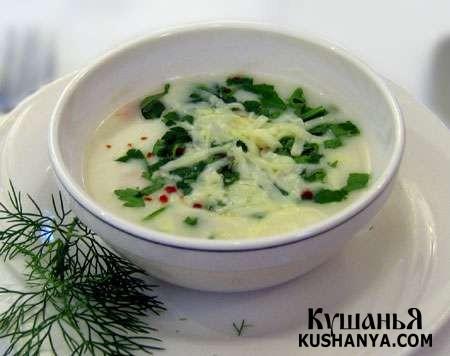 Фото Молочный сырный суп