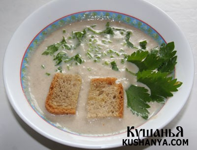 Фото Молочный суп с белыми грибами