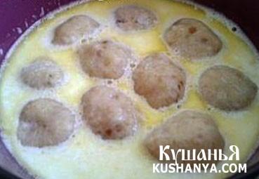 Фото Суп молочный с хлебными фрикадельками