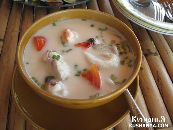 Тайский суп на кокосовом молоке рецепт