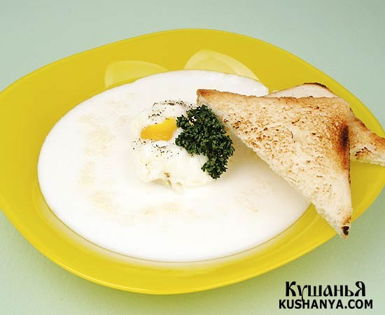 Фото Суп молочный с картофельными клецками