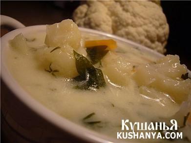 Фото Молочный суп с цветной капустой