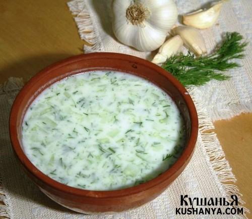 Фото Суп молочный с кабачками