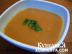 Молочный суп из моркови фото