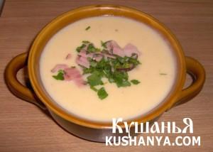 Суп молочный с цветной капустой фото