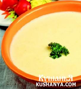 Суп молочный с ячневой крупой и картофелем фото