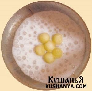 Молочный суп из саго фото