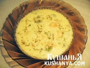 Сливочный суп с семгой фото