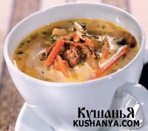 Сырный суп с грибами фото