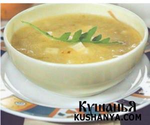 Суп молочный с картофелем и брынзой фото