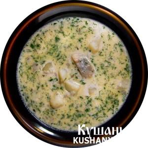 Молочный суп с сельдью фото