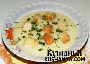 Суп молочный из хлеба фото